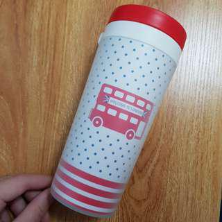 BN White & Red London Bus Water Bottle/Tumbler