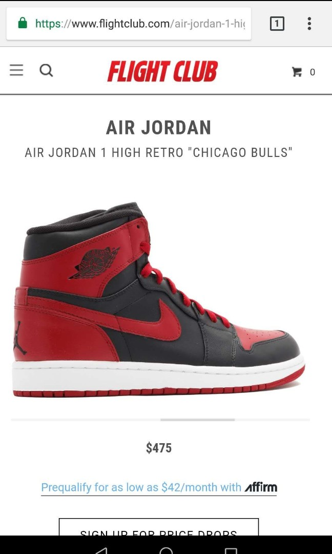 new product 6e0a1 9becd ... closeout air jordan 1 chicago bulls mens fashion footwear sneakers on  carousell 4d38a 9d555