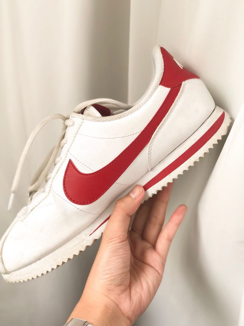 "39deeee460d9e9 Authentic Nike Cortez Basic Leather ""white   gym red"""