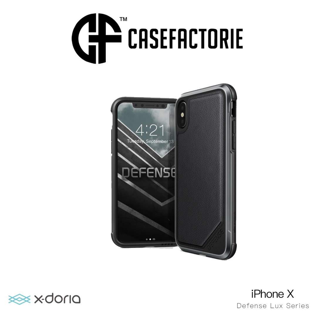online store 828d4 e89ce [Black Leather] X-Doria Defense Lux Case iPhone X/Xs