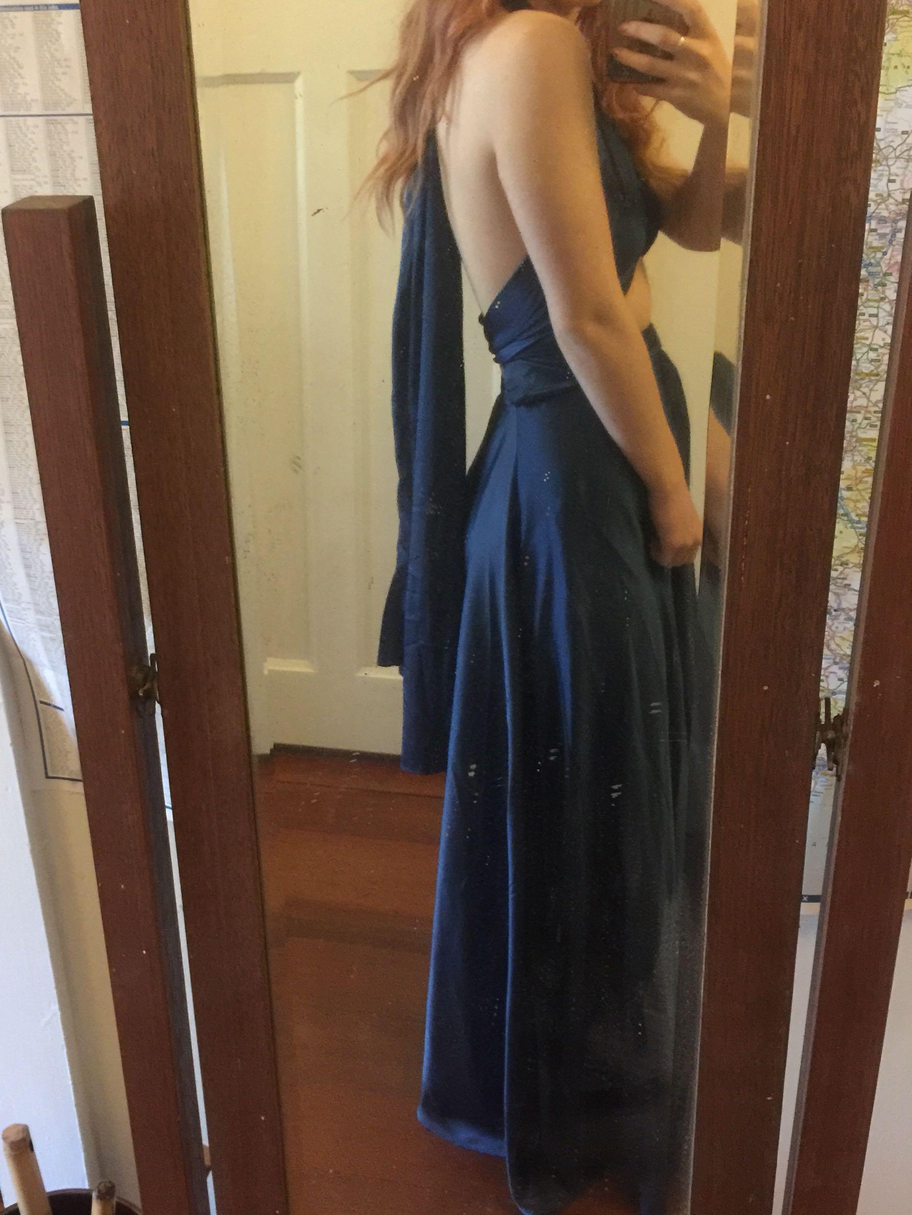 Blue multiway formal dress