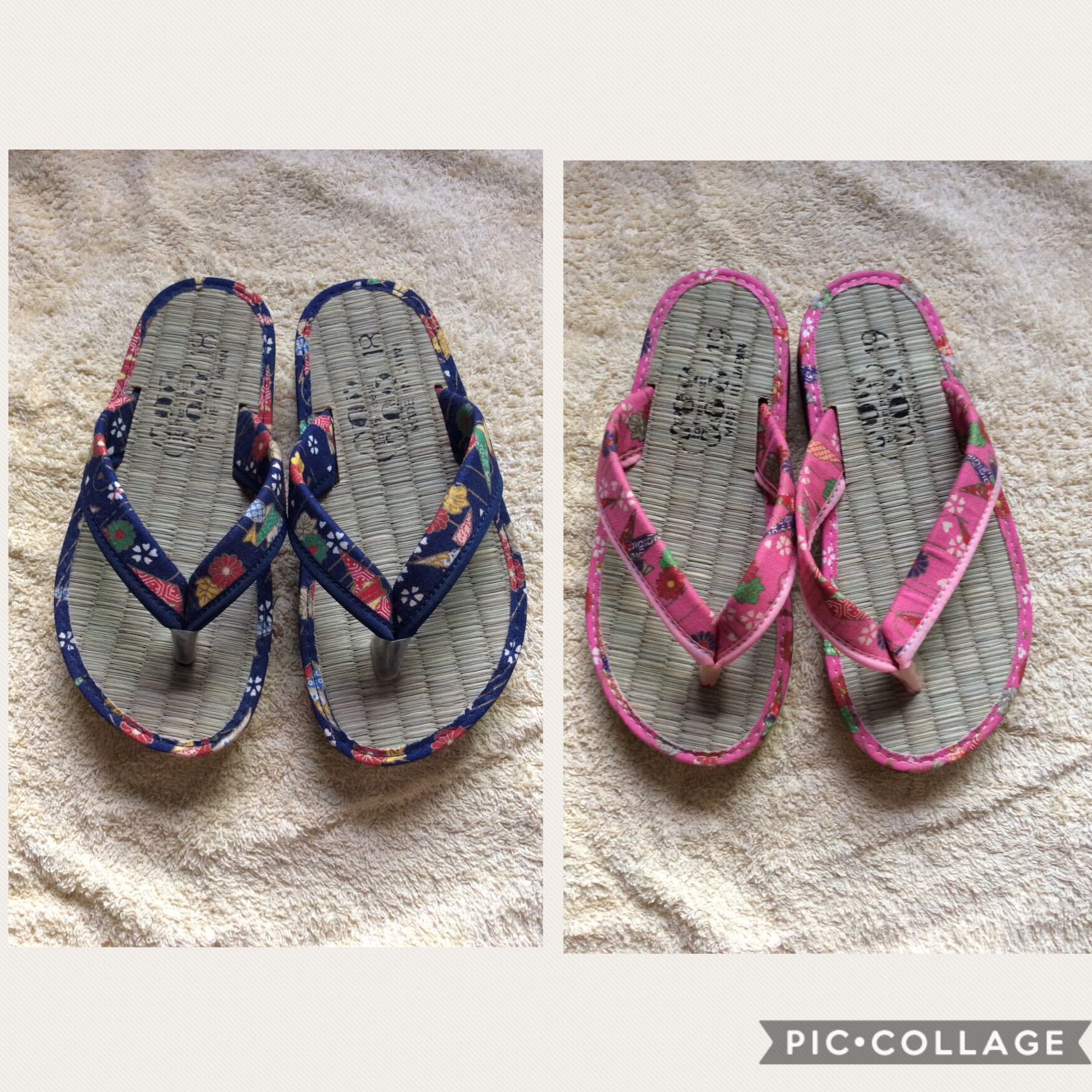 42c5bb79c BN Japan Blue Pink Natural Straw baby   toddler   kids   boy   girl   gals slippers  flip flops open-toes sandals shoes 16.5cm 19cm