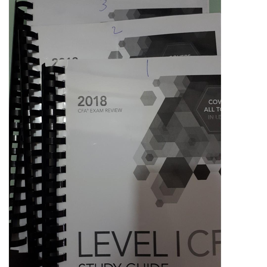 CFA Level 1 2018 Wiley Study Guide + Formula Sheet (Hardcopy