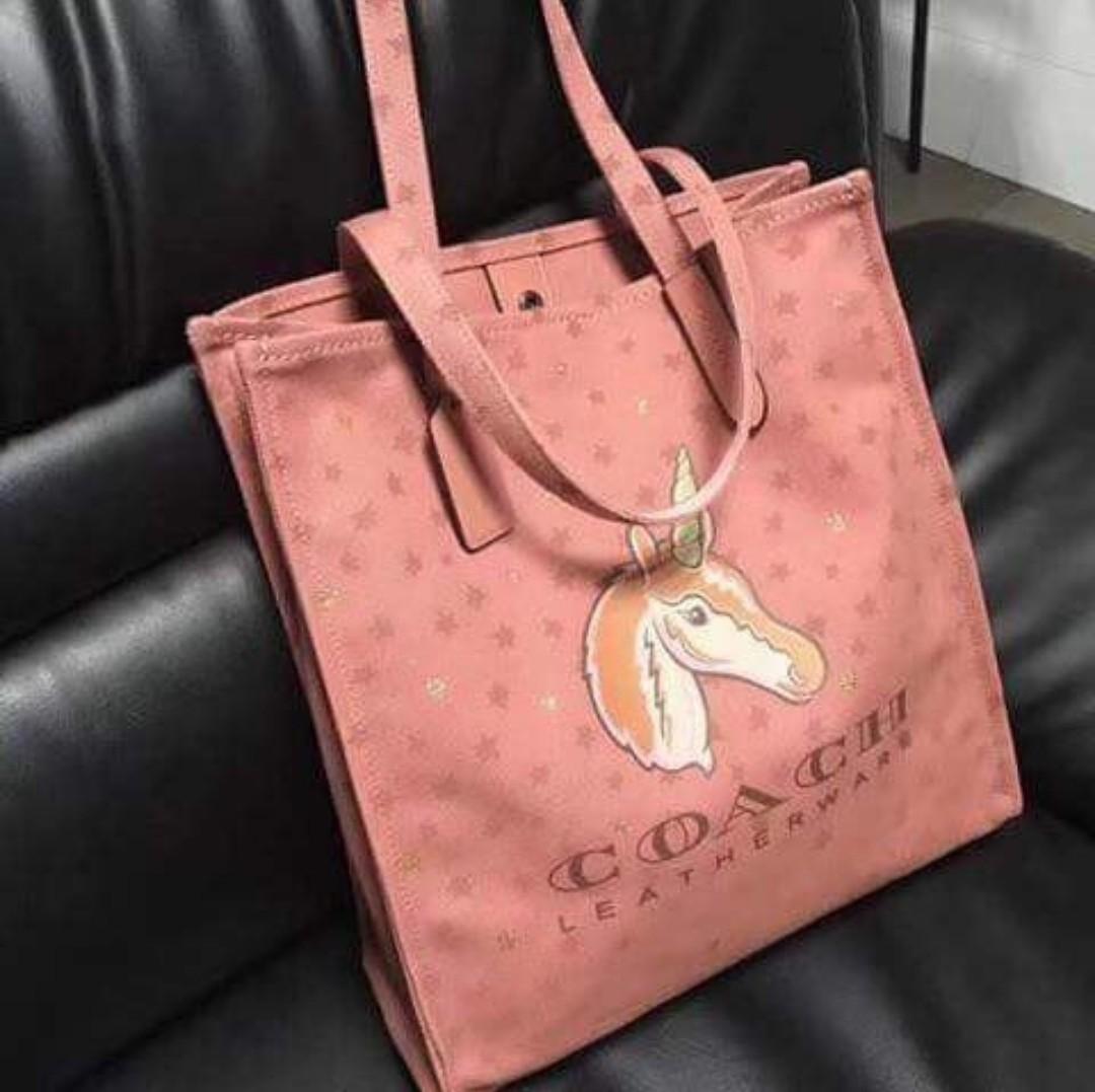 2aed6cd65e ... australia coach 1941 canvas north south unicorn tote bag melon preloved  womens fashion bags wallets on ...