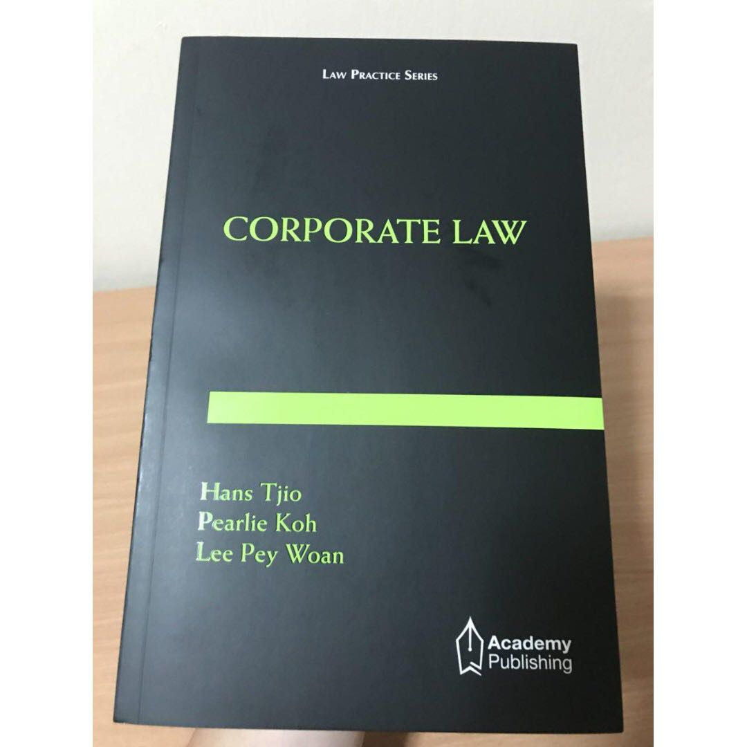 Corporate Law by Hans Tjio