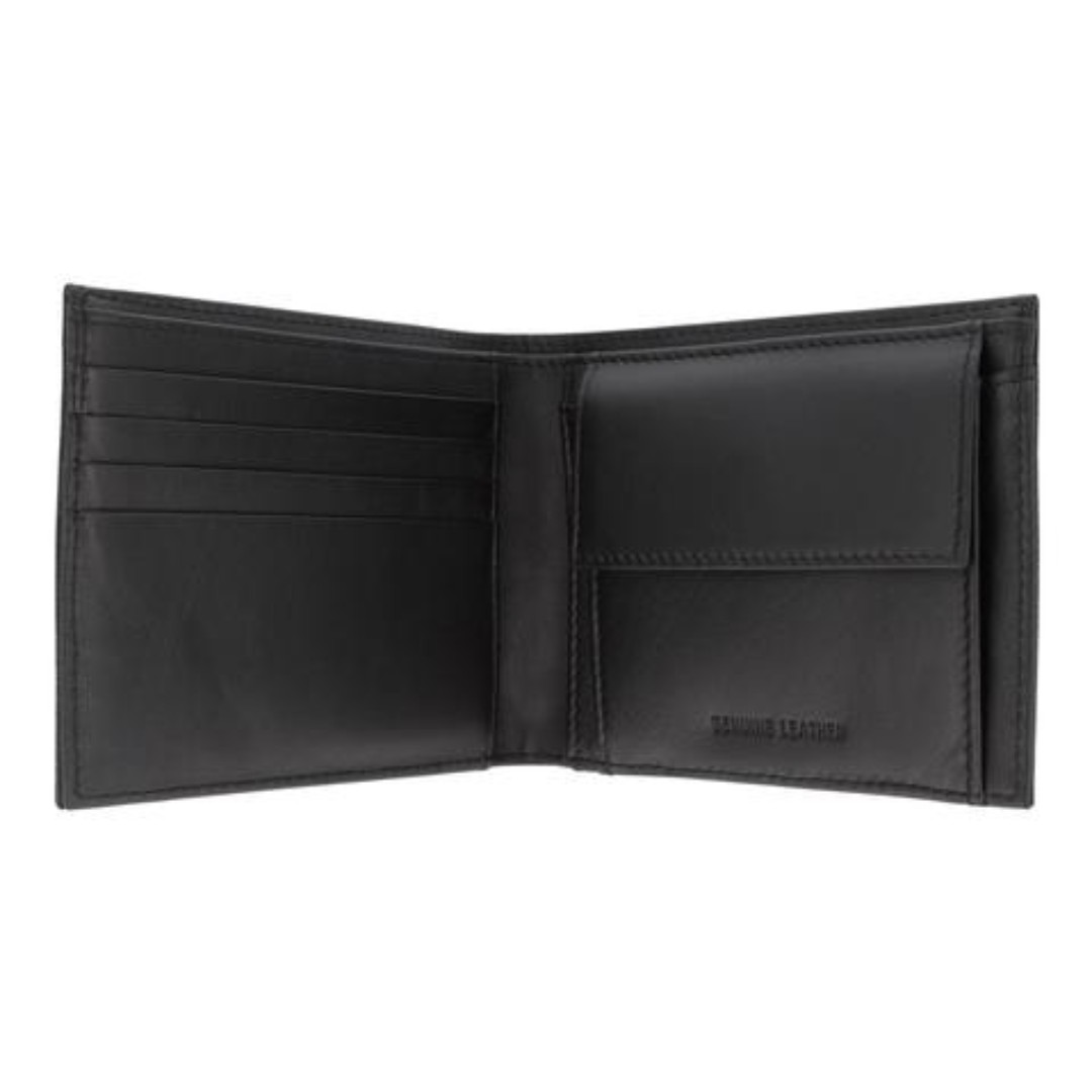 7babb4a184fe CROSSING SAFFIANO BI-FOLD WALLET WITH FLAP & COIN POUCH – BLACK, Men's  Fashion, Bags & Wallets, Wallets on Carousell
