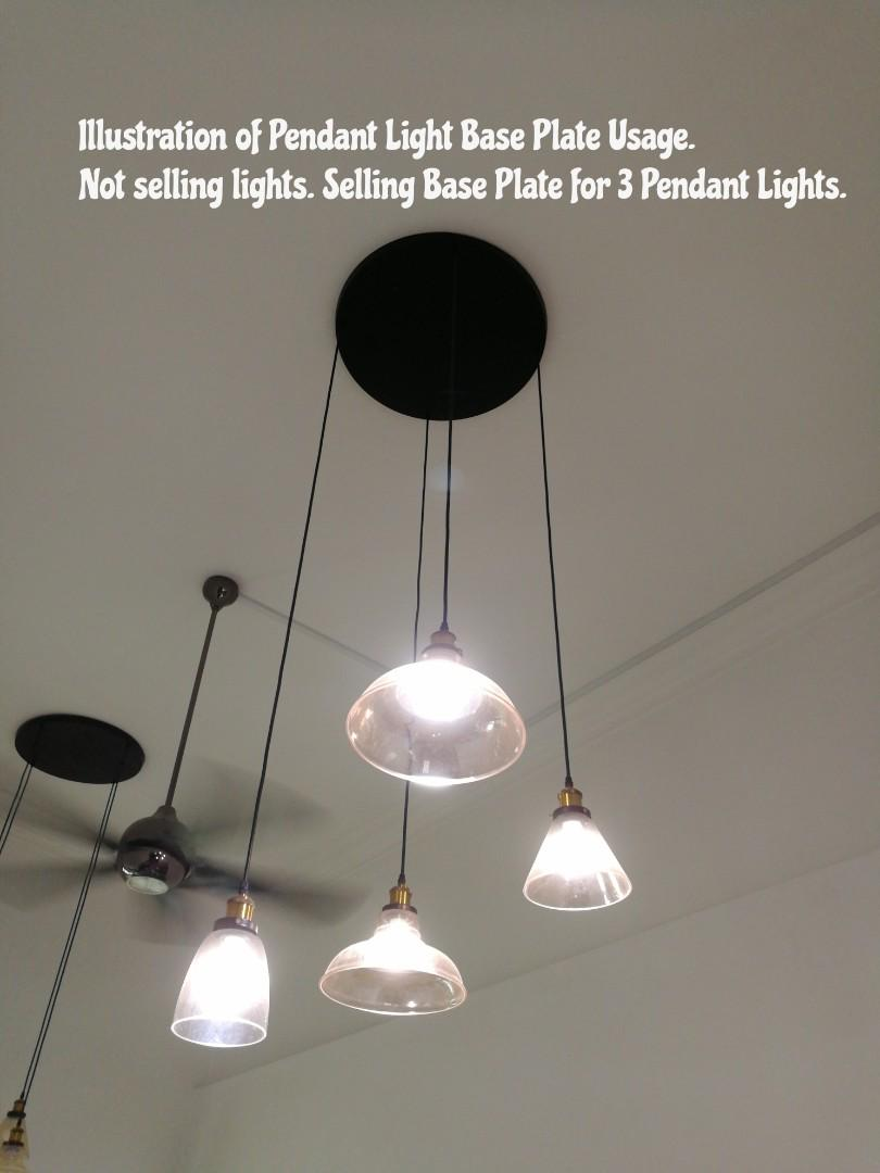 online retailer b3624 43b41 DIY New Base Plate for Use with 3 Pendant Lights, Furniture ...
