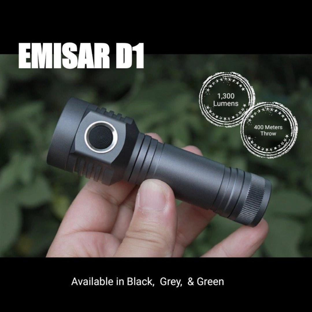 Emisar D1 Compact Long Range Led Flashlight 1300 Lumens 400 1000lm Circuit Light Longrange Hiking Camping Torch Photo