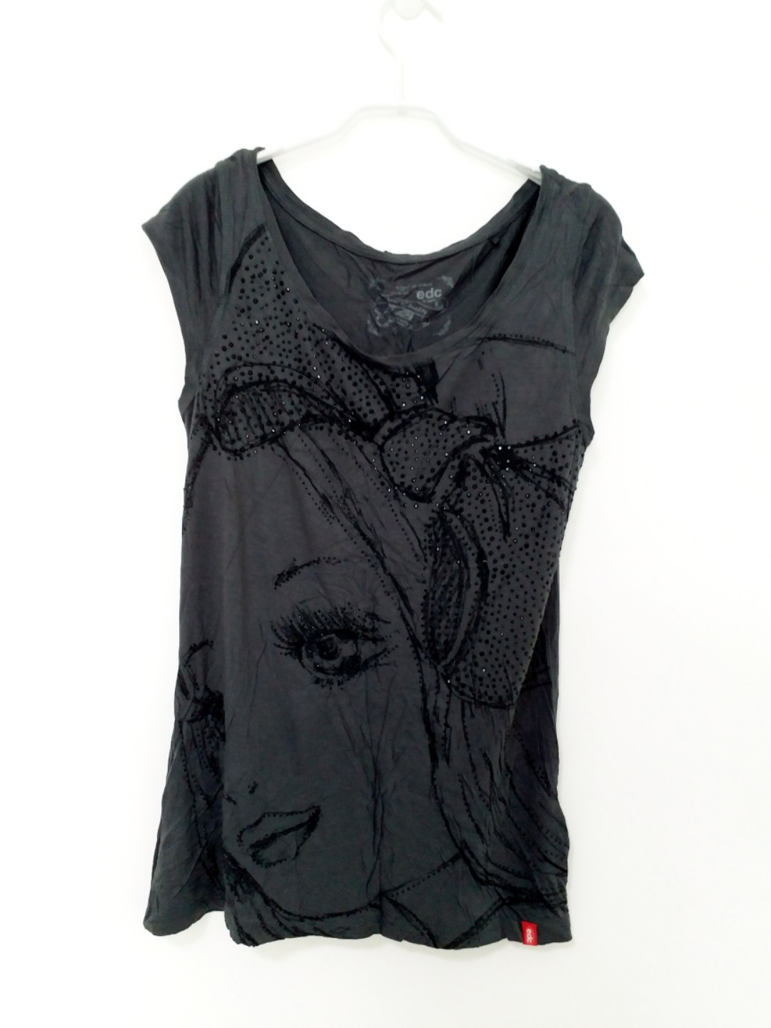 30e469f5a5f Esprit Black Beaded Blouse