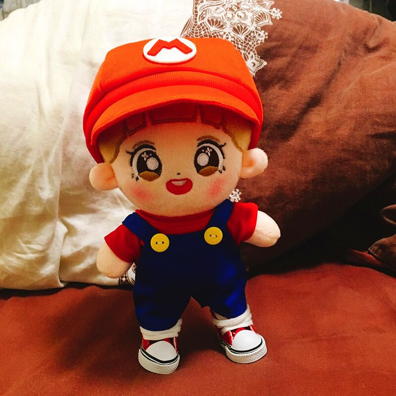 Exo Bts Svt Nct Super Mario 20cm Doll Outfit Cosplay Clothes