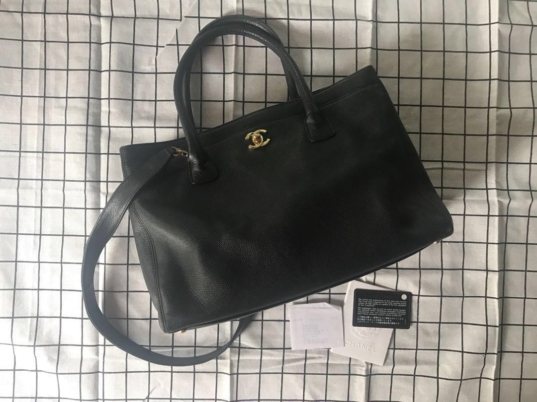 a2fe5af65ca1 FINAL PRICE* 100% Auth Chanel Cerf Executive Tote Black Caviar ...