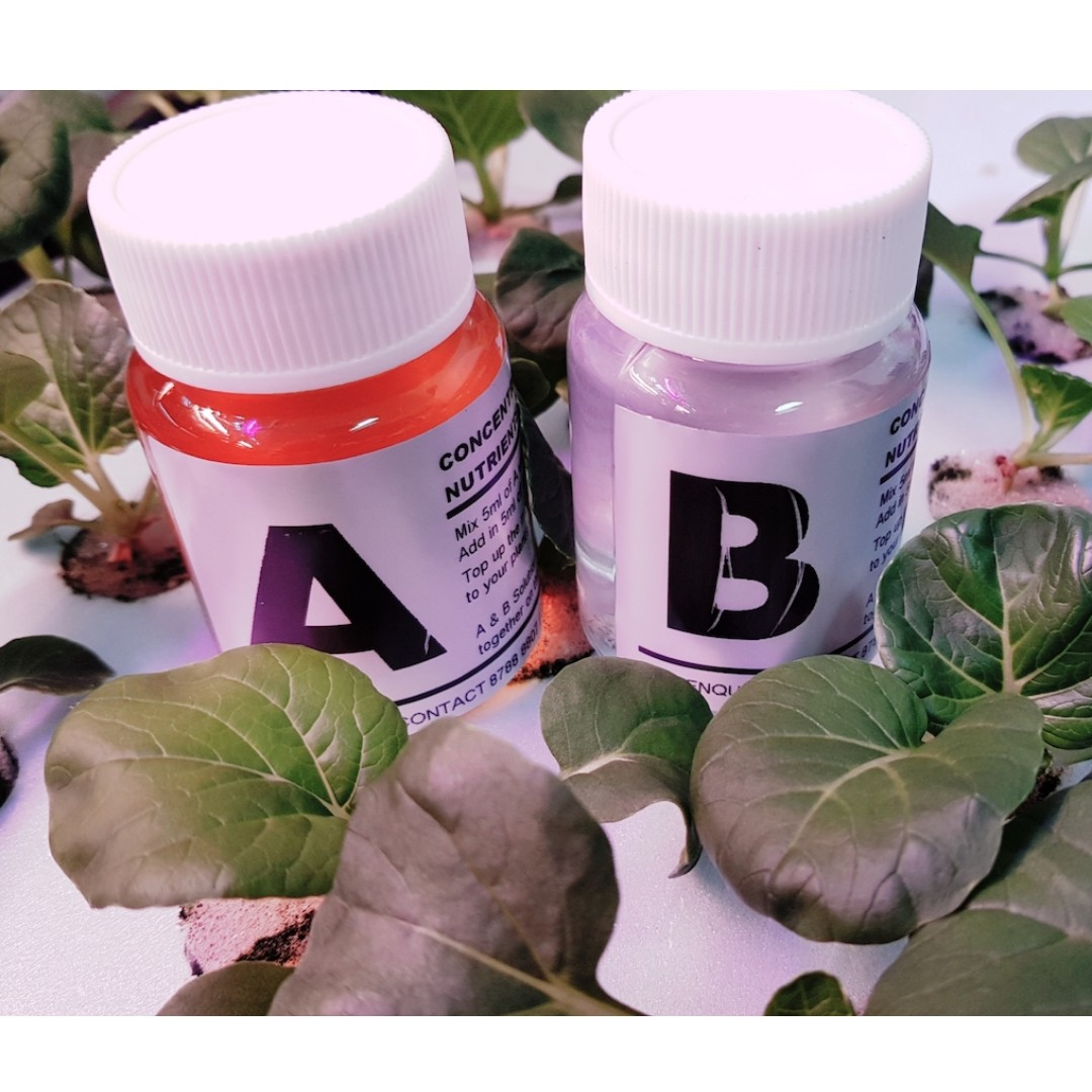 Hydroponics Concentrated Nutrients Solution A & B (60ml each