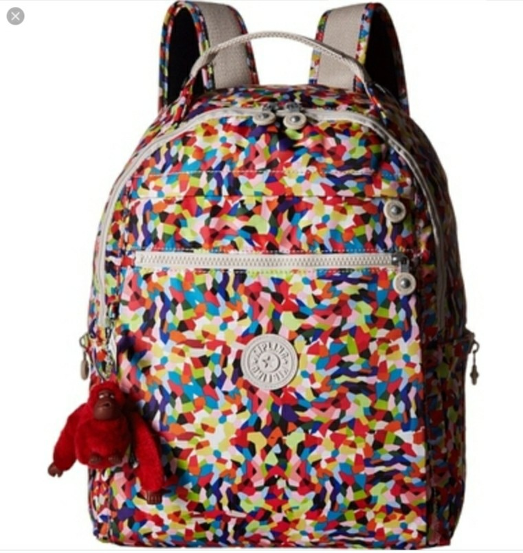 bf63f4e691 Kipling backpack bag ravier splatter, Women's Fashion, Bags ...