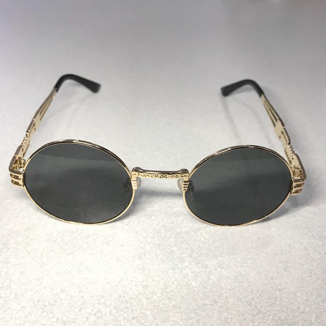 b8dd6be2bf Migos vibe metal wrap vintage oval sunglasses mens fashion accessories eyewear  sunglasses on carousell jpg 1080x1080