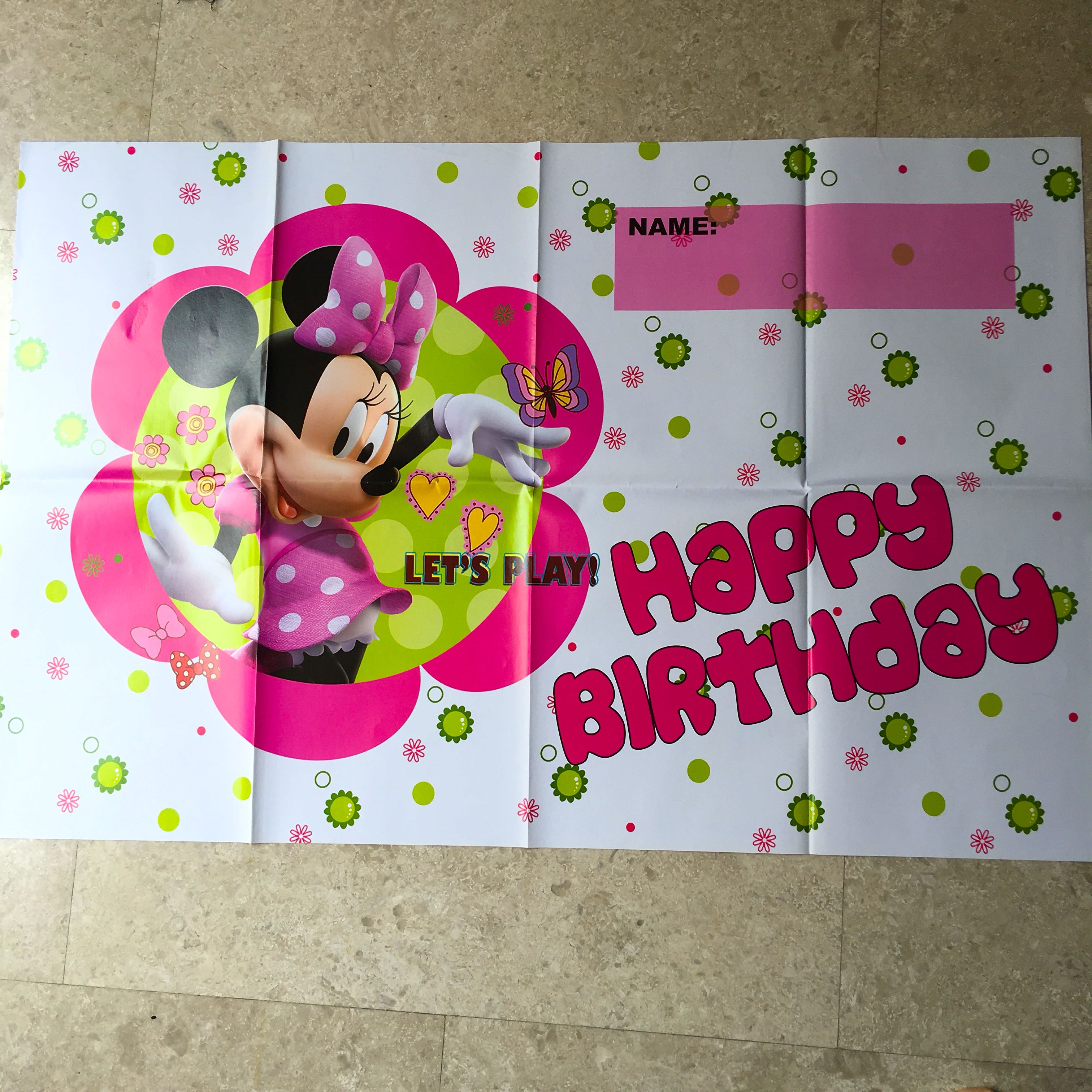 Minnie Mouse Party Supplies Party Backdrop Poster Party Deco