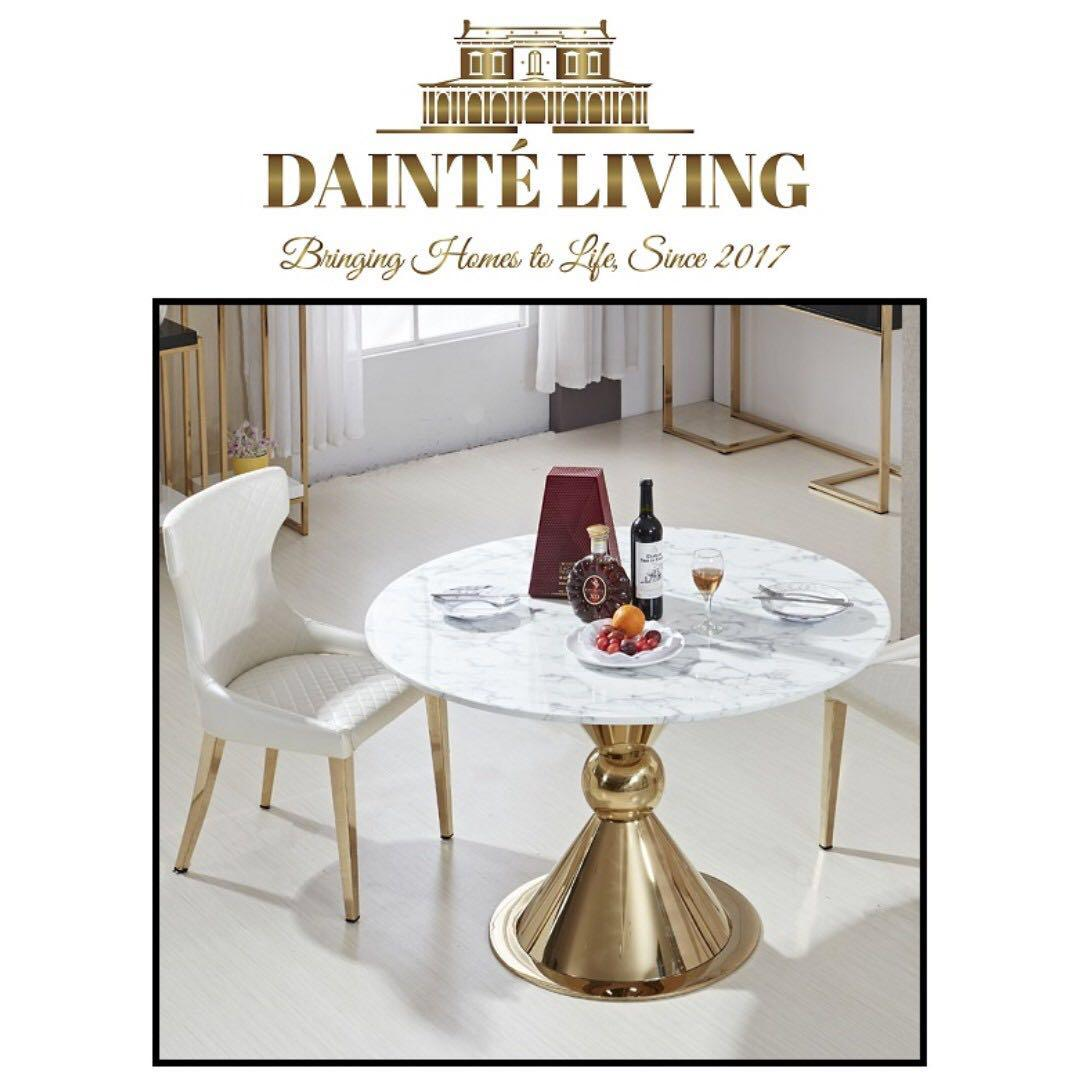 Modern Luxury Marble Round Dining Table Furniture Tables Chairs On Carousell