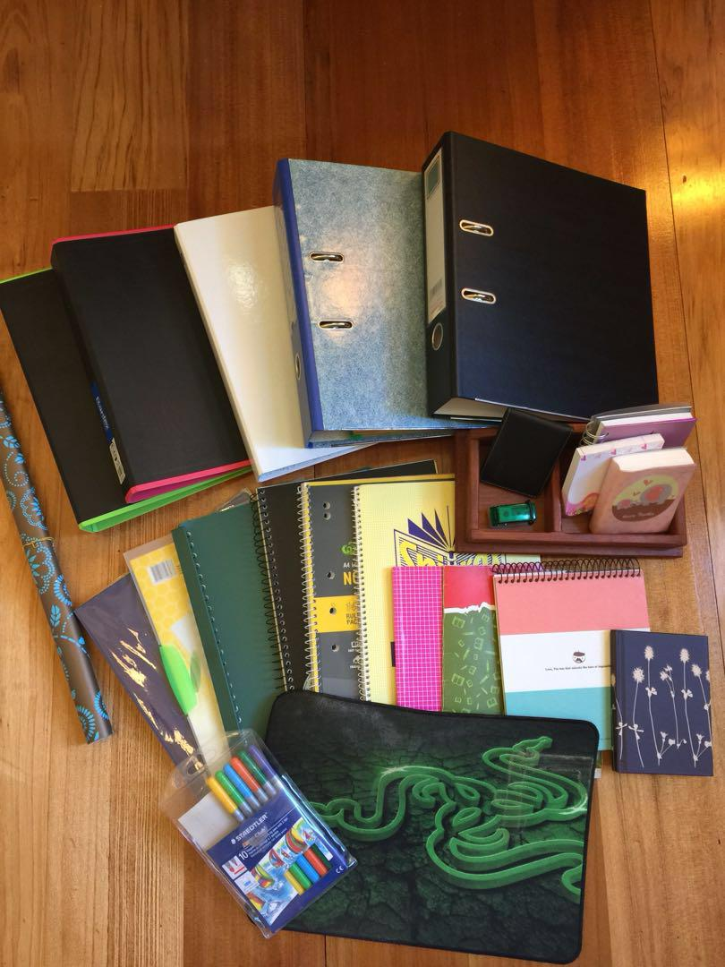 New folders, and some new and gently used notebooks