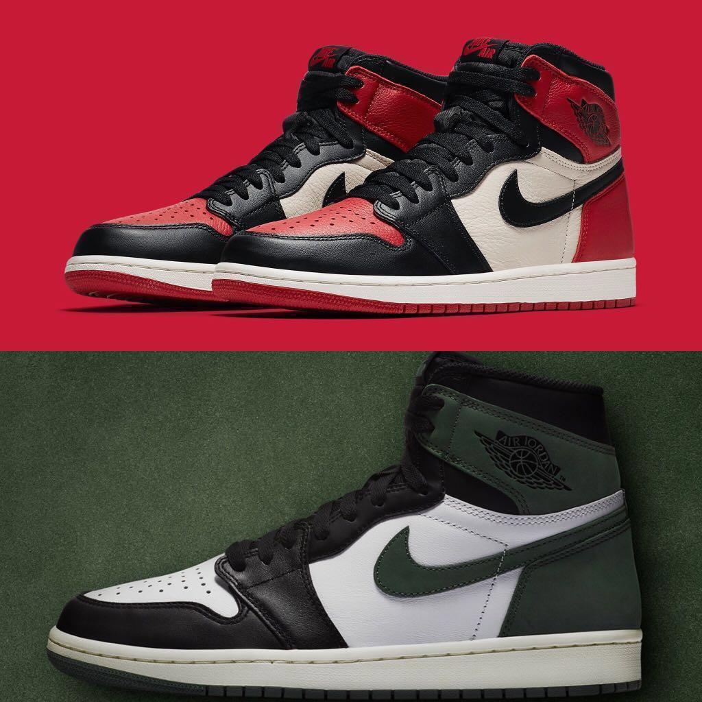 384a754371d8 Nike Air Jordan 1 Clay Green Bred toe WTB