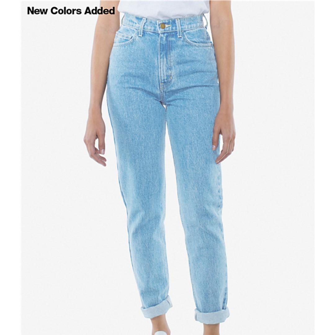 NWOT American Apparel High Waisted Mom Jeans SZ 25