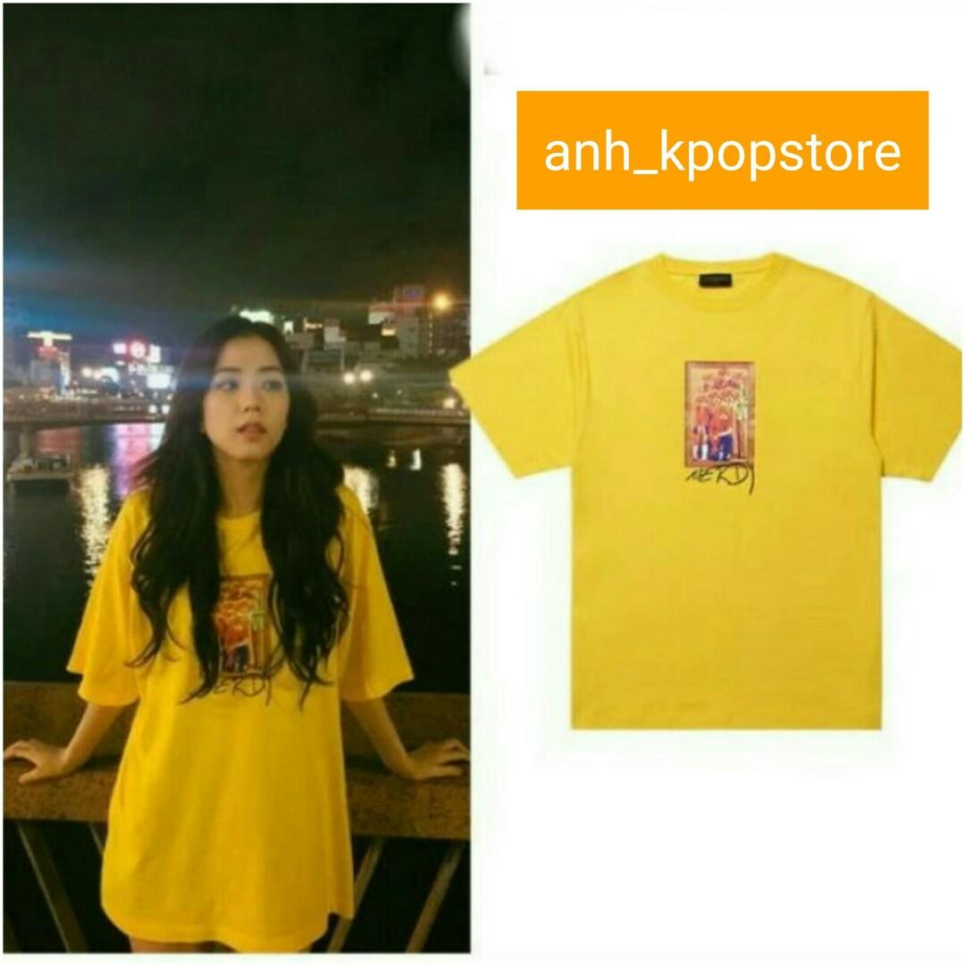 Po Blackpink Jisoo Yellow Teddy T Shirt Top Anh Apparel