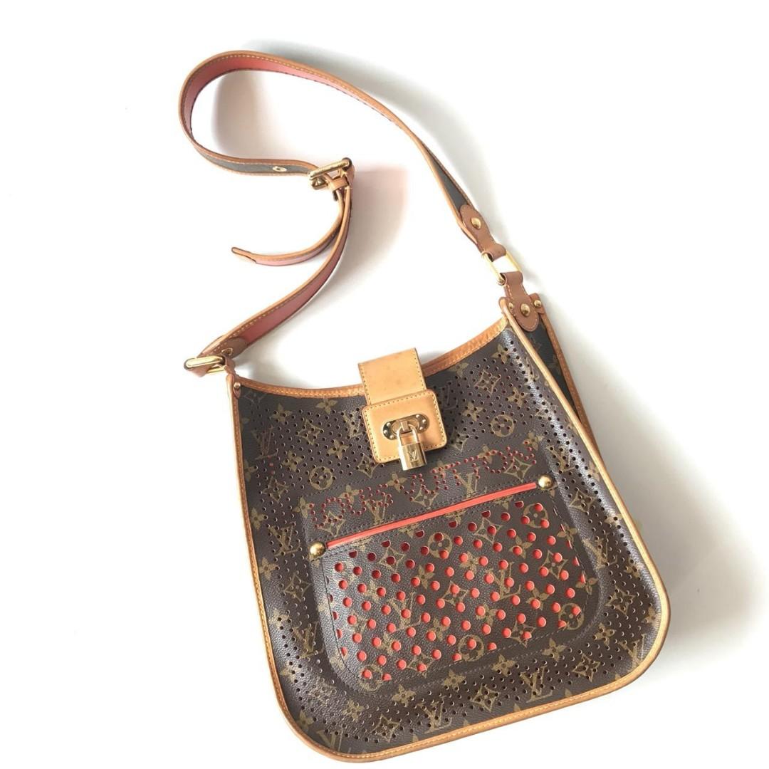 Preloved Authentic LV Sling Bag Perforated Orange 2006 4226bbdb47