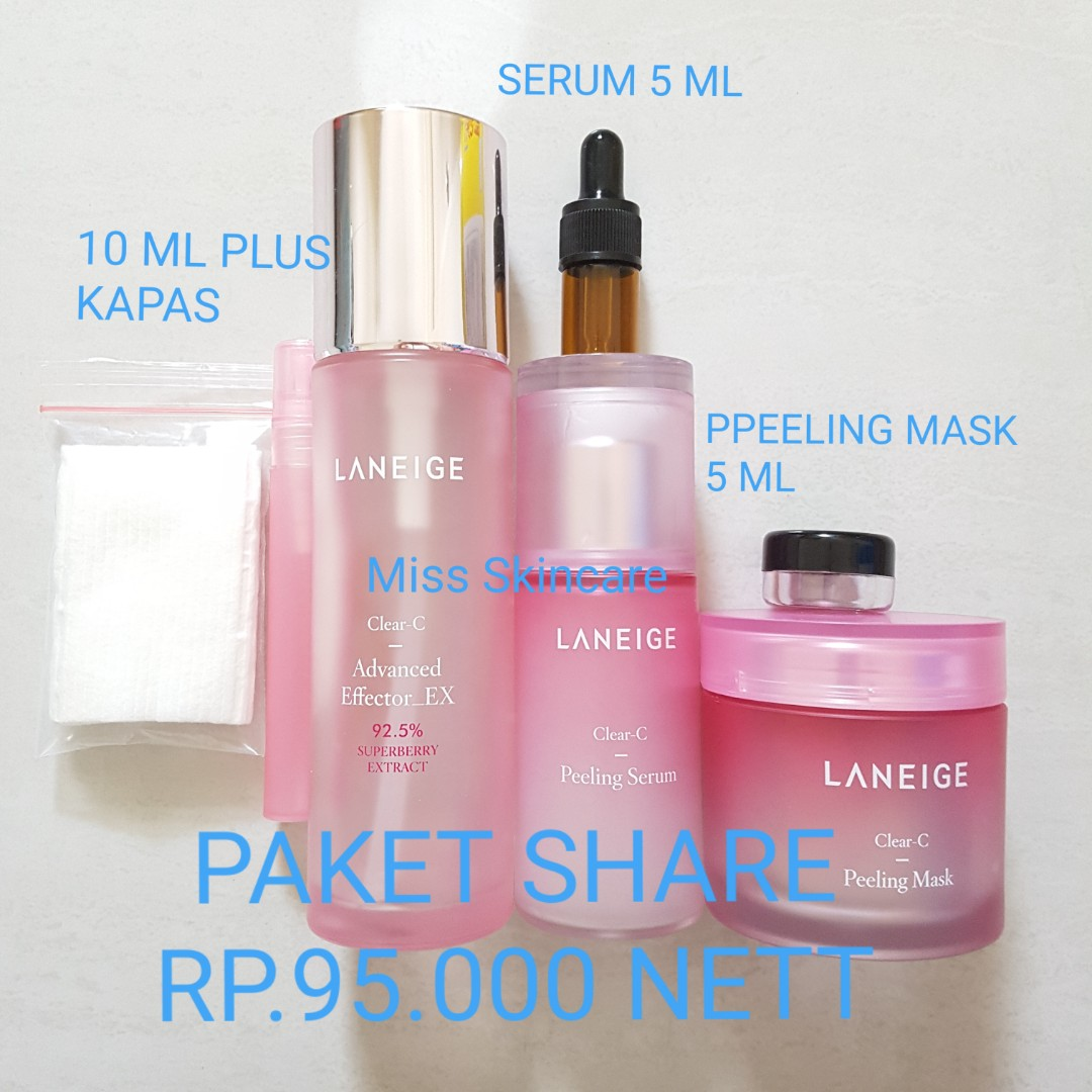 Ready Paket Share Laneige Clear C Peeling Health Beauty Skin Set A Bath Body On Carousell