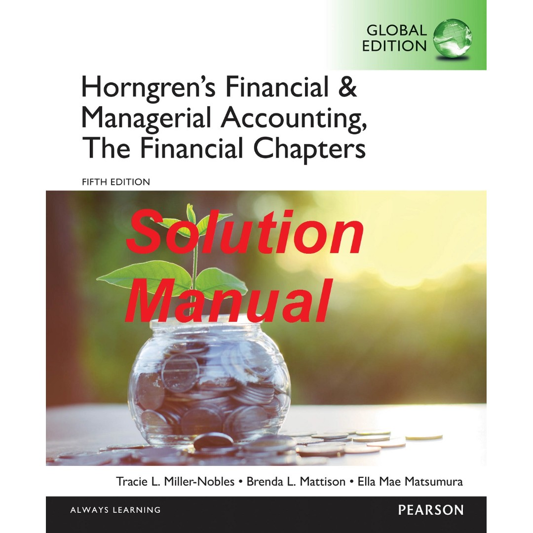 financial and managerial accounting 5th edition solutions
