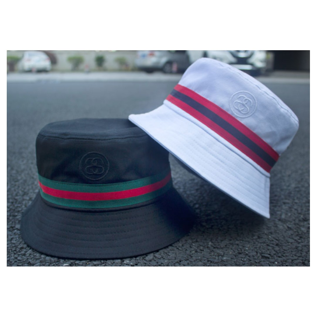 Stussy Double S Embroidered Banded Bucket Cap Hat 23cdb3e9f33