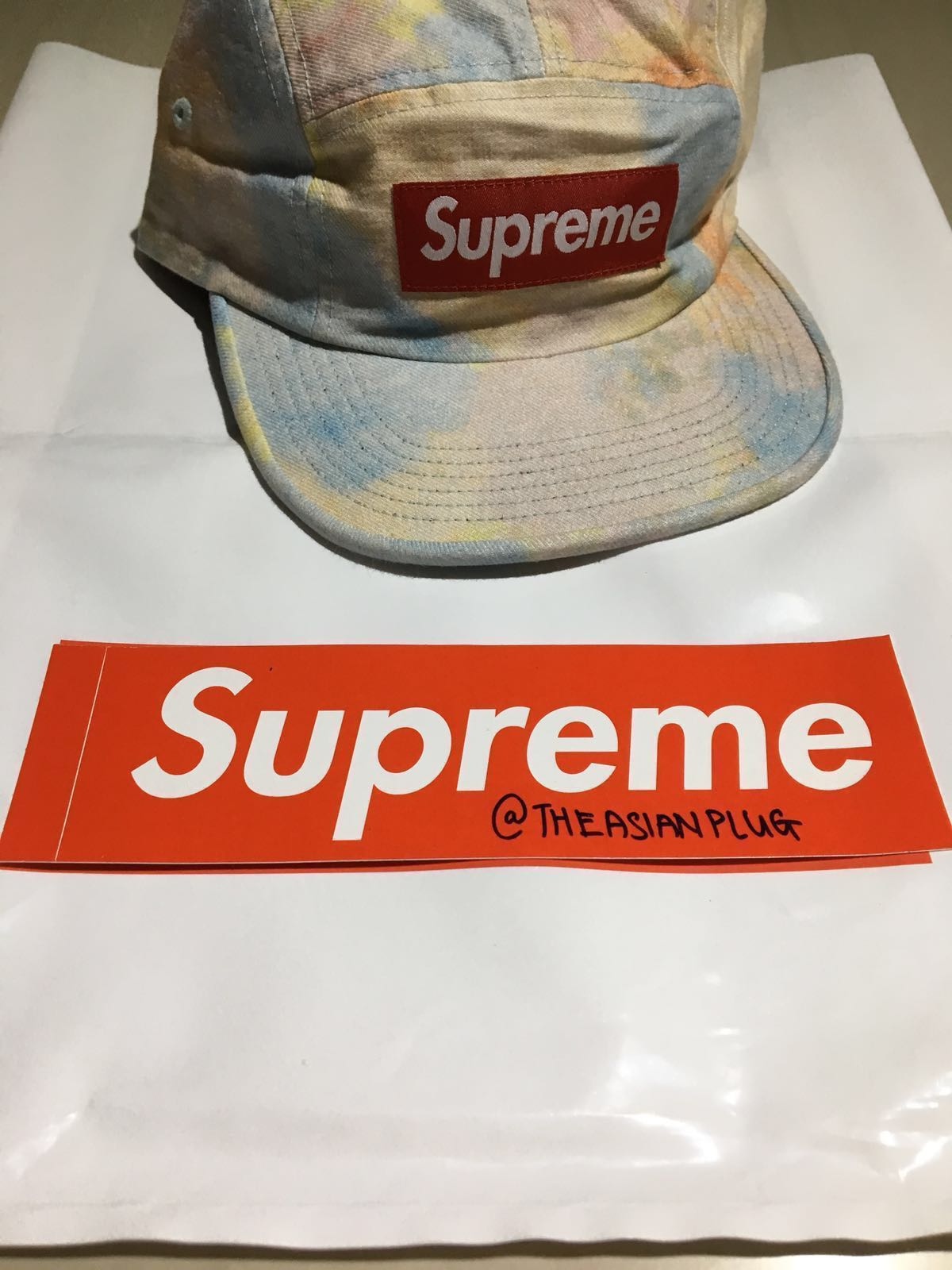 26385f6d82c Supreme Multicolor Denim Camp Cap