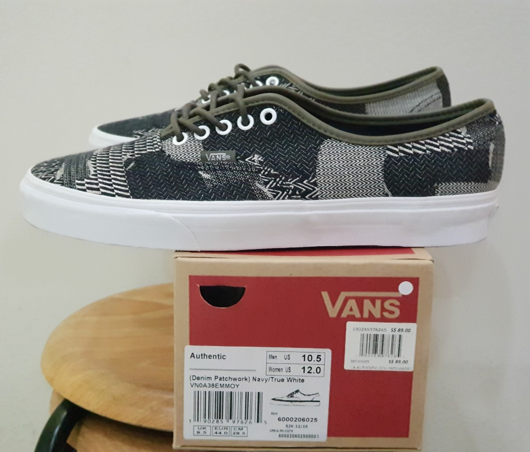 8c9d1a397e Vans Authentic US 10.5 Denim Patchwork
