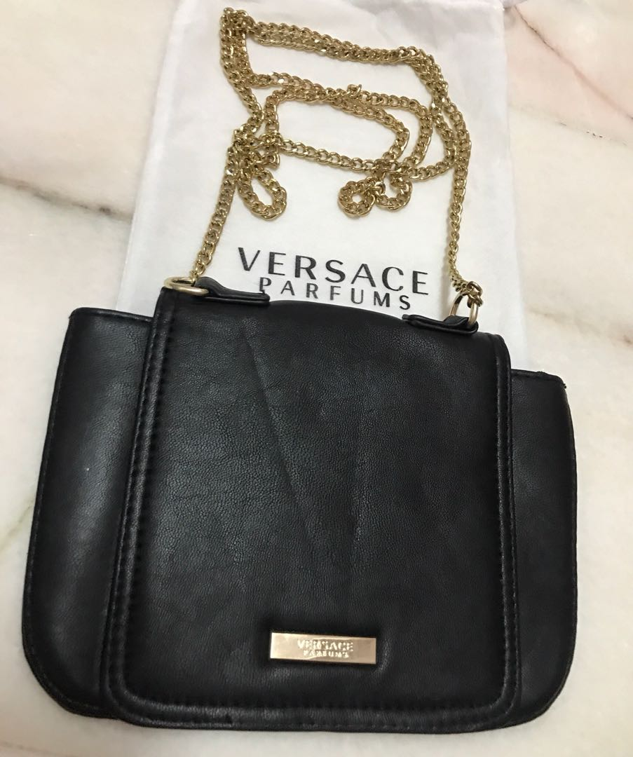 21a7ef6281 Versace parfums Sling bag, Luxury, Bags & Wallets on Carousell