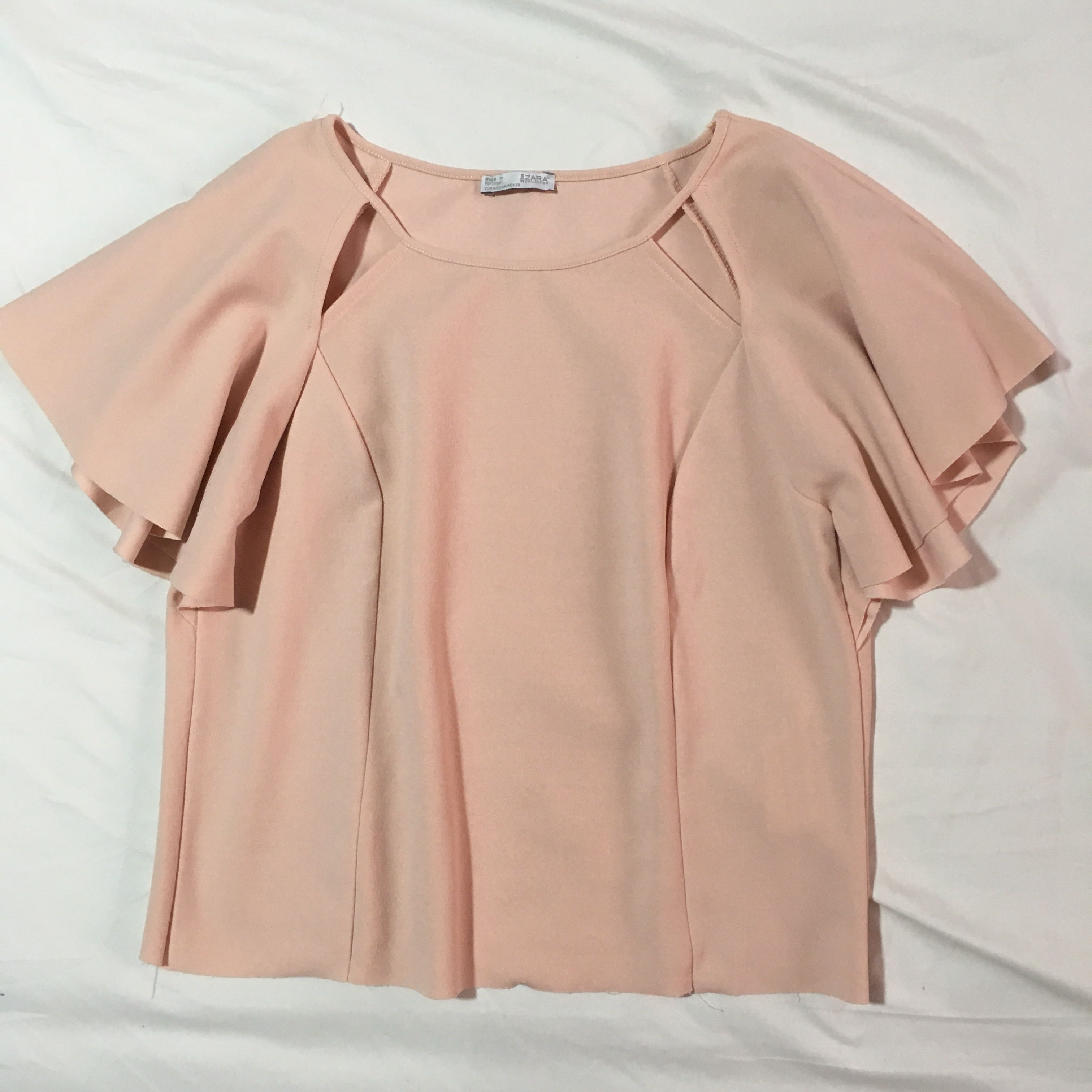 0e60c52f50042a ZARA Light Pink Top
