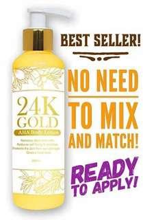 24K Gold Aha Body Whitening Lotion