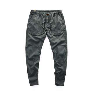 🚚 上寬下窄休閒褲 復古灰 36腰 錐形褲