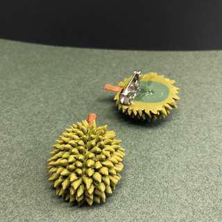 Durian brooch