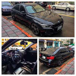 2012年BMW 328 📍改M3Look前後包📍抬頭顯示器📍Ike19吋鋁圈📍前6活塞📍四出台製蠍子管📍天窗📍大螢幕