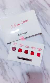 CHANEL ROUGE COCO GLOSS  5 COLOR LIPSTICK SAMPLE PALETTE W/BRUSH 五色試用連掃 **滿足你百變唇色既願望💛💛