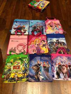 Girls / children bags / draw strings bags / frozen/ Barbie bags