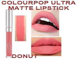colourpop liquid lipstick shade donut