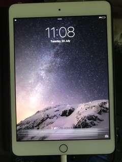 🚚 iPad Mini 3 Gold WiFi 128GB — 2 issues