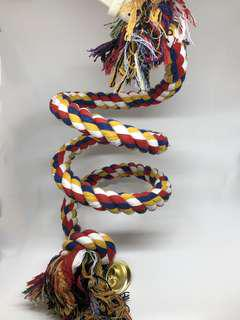 Thick Spiral Climb Rope for Large Parrots