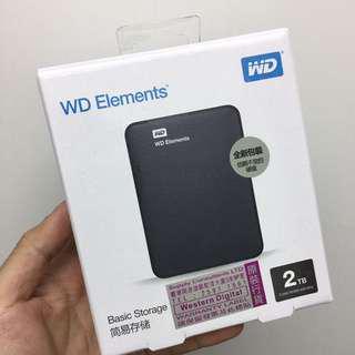 全新 WD Elemont 2TB HARD Disk 外置儲存器