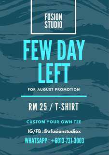 August promo for t-shirt
