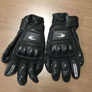 Komine Full Air Leather Riding Gloves (XL)