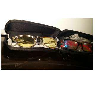 2 eyeglasses - $10 for both with cases