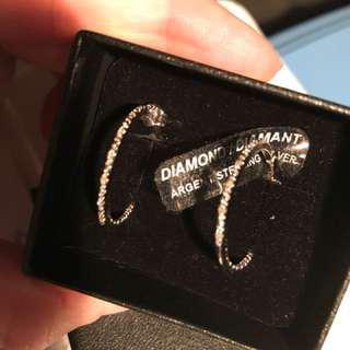 NEW-NADRI 2inch Pave Hooped Earrings