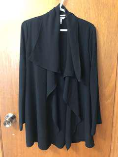 black drape blazer