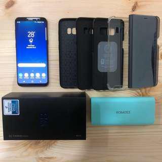 Samsung Galaxy S8 64GB Midnight Black FREE 6 Items