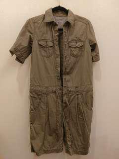 🚚 日本知名品牌 CUBE SUGAR 復古連身工作服