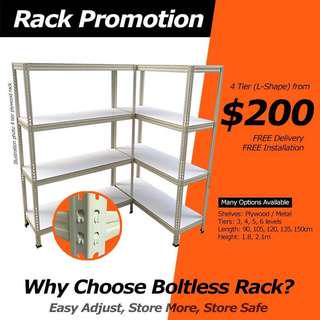 Boltless Rack With Plywood -120cm